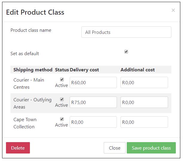 Edit Product Class